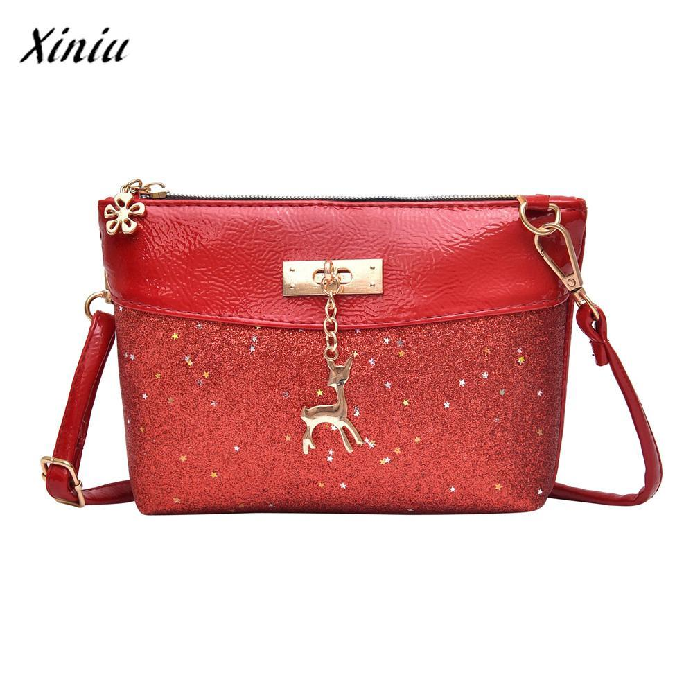 12e7eafe9349 Xiniu Fashion Luxury Handbags Women Bags Designer Girl Bling Sequins Flap Bags  New Multi Pretty Deer Crossbody Shoulder Shoulder Bags Cheap Shoulder Bags  ...
