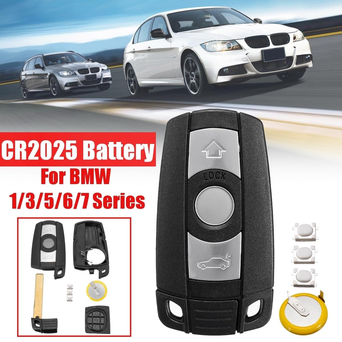 With Blade Battery Remote 3 Button Car Key Shell Case Styling Cover Trim For Bmw 1 3 5 6 7 Series E90 E92 E93 E60 E61 X1 X5 X6
