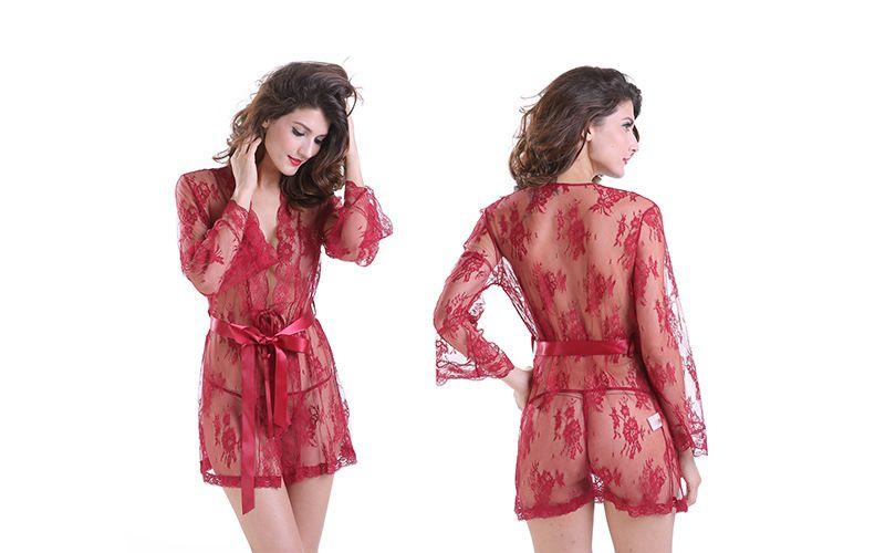 1bf11a5ad52 Women s Sexy Nightwear 2019 Sexy Lace Lingerie Bodydoll Nightdown ...