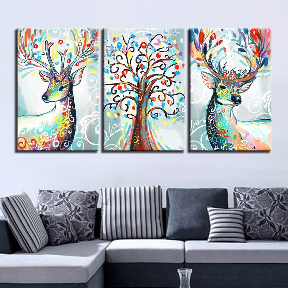 2019 home decoration deer abstract modern canvas oil paintings wall rh dhgate com