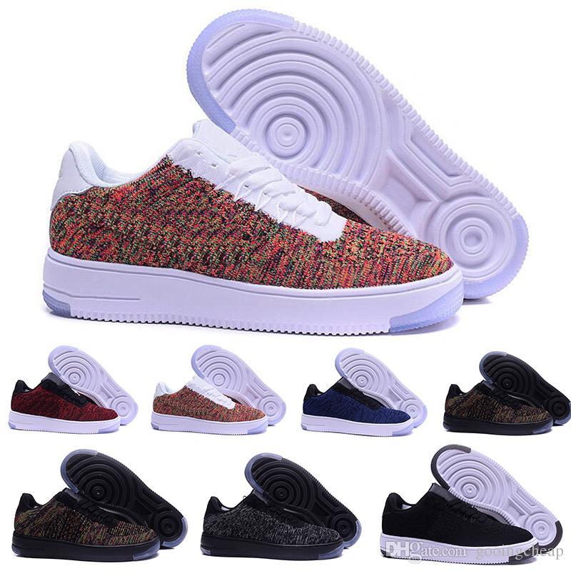 2017 Nike Air Force oen 1 flyknit one af1 flyknit Zapatos de los hombres de moda Low One 1 Hombres Mujeres China Zapato Casual Mosca Diseñador