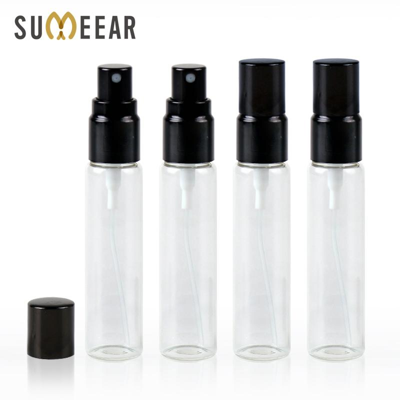 50Piece/Lot 10ml Refillable Perfume Bottle Perfume Glass Bottle Aluminum  Atomizer Empty Cosmetic Containers Travel Container