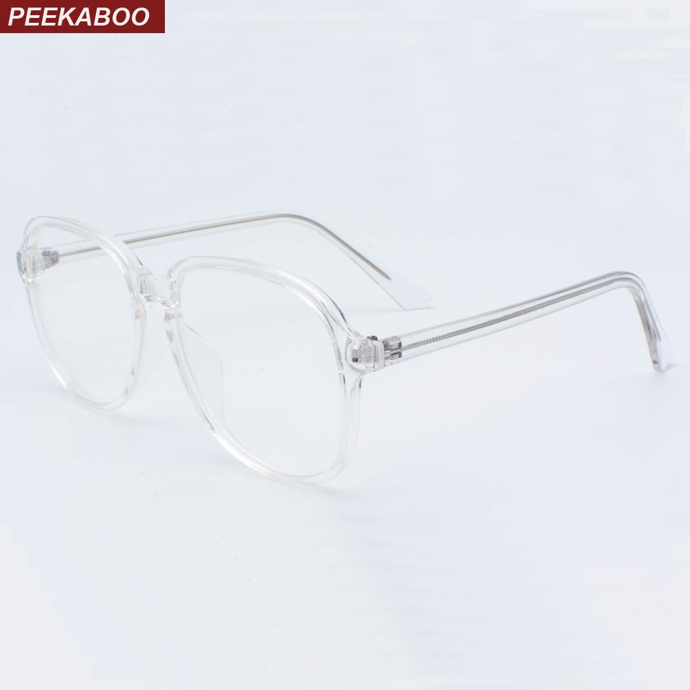 fed3e20a4fd4a 2019 Peekaboo Clear Candy Color Glasses Frames Optical Women 2019  Accessories Retro Big Transparent Eyeglasses Frames Men Oversize From  Taihangshan