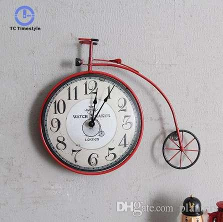 bicycle wall clock retro american country living room bedroom rh dhgate com