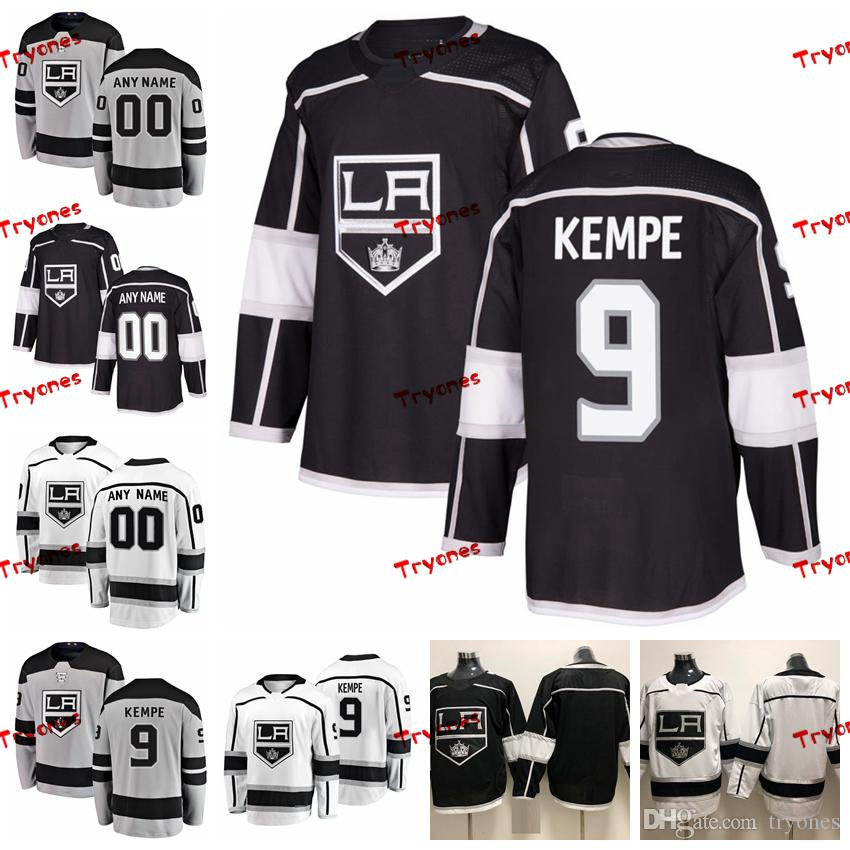 hot sale online 1a7b5 c6f08 2019 Customize Adrian Kempe Los Angeles Kings Stitched Jerseys Custom  Alternate Grey Shirts #9 Adrian Kempe Hockey Jerseys S-XXXL