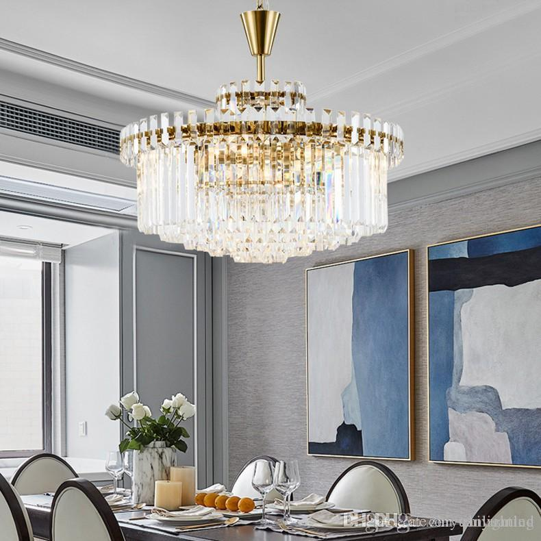 post modern led gold crystal chandelier lighting for living room rh dhgate com