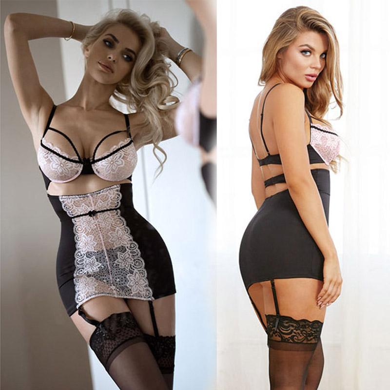 0d1d77568 Pijama Feminino Longo New Porn Mulheres Lingerie Sexy Hot Erotic Apparel  Transparente Rendas Lingerie Erótica Porno Trajes Oco Out Roupa Interior  Sexy ...