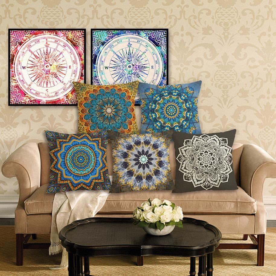 45cm boho circle cotton linen fabric throw pillow 18inch fashion rh dhgate com