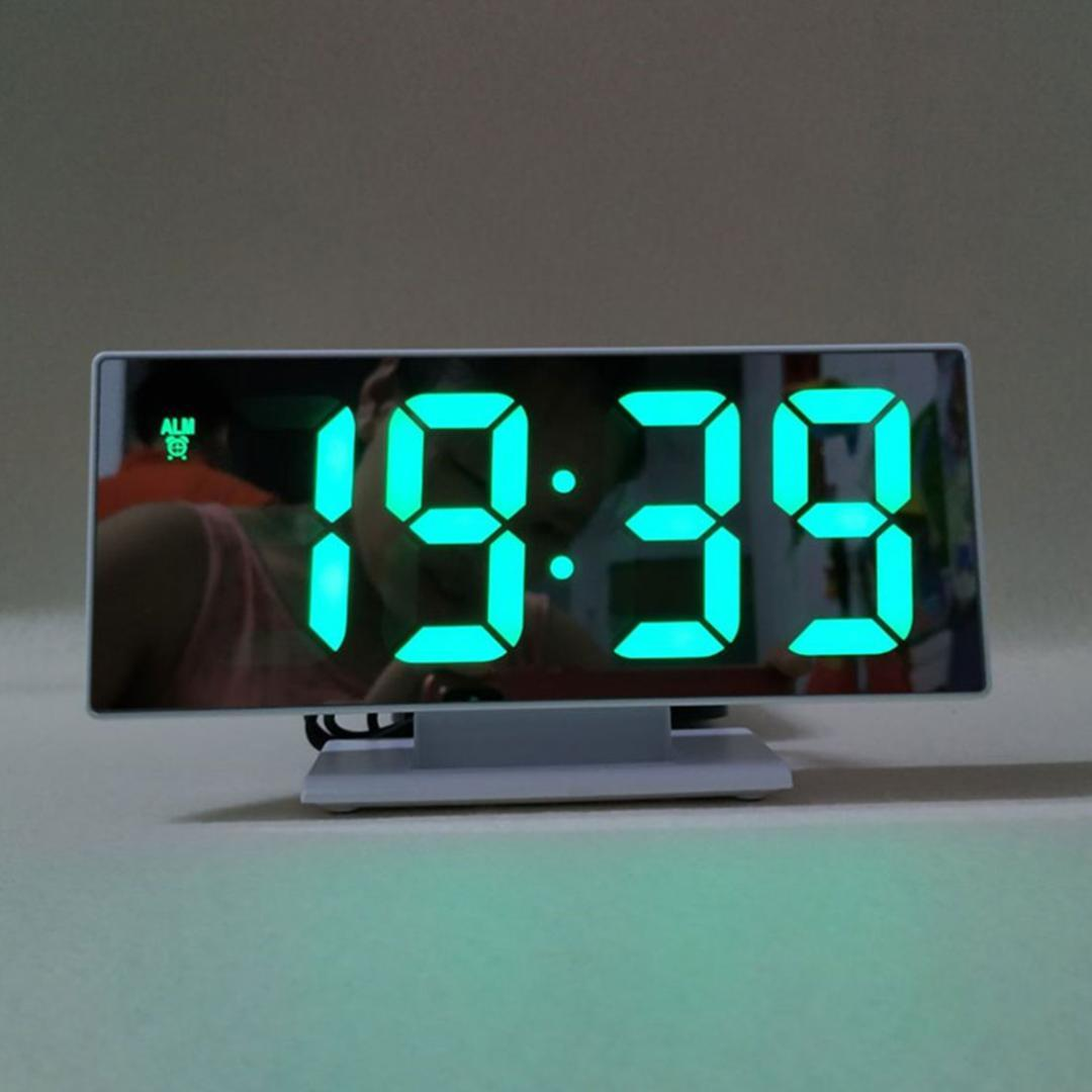 2019 usb cable digital alarm clock led mirror clock multifunction rh dhgate com