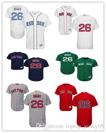 los angeles b57c6 dafe6 2018 can Boston Red Sox Jerseys #26 Wade Boggs Jerseys men#WOMEN#YOUTH#Men  s Baseball Jersey Majestic Stitched Professional sportswear
