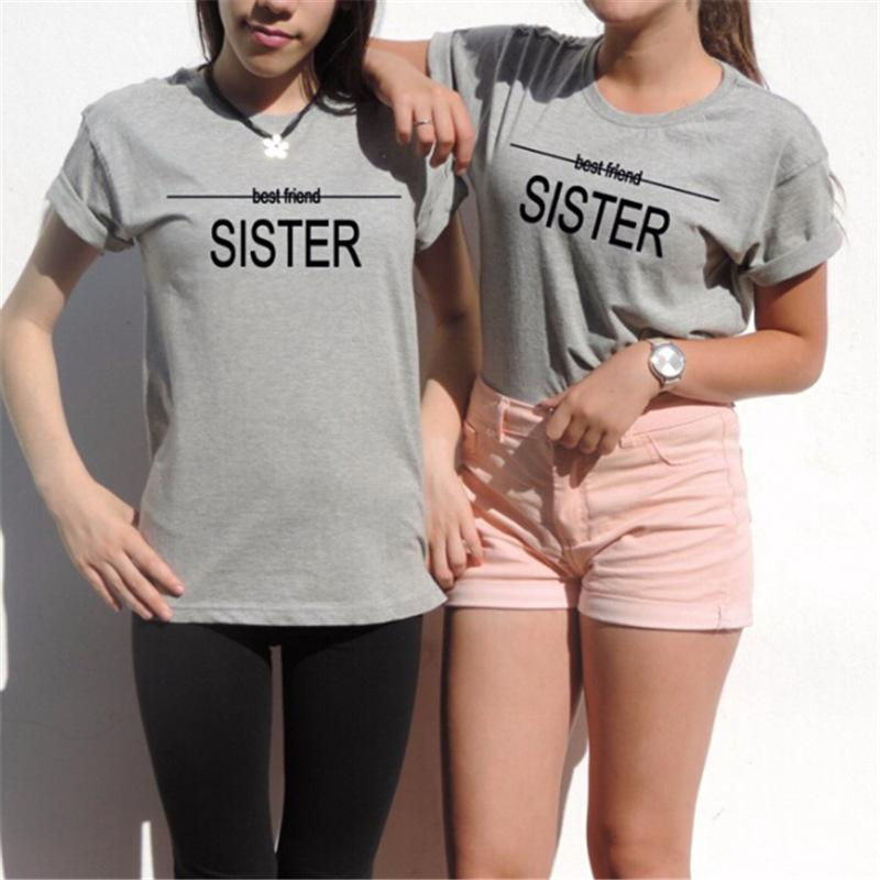 ad0abf9a8e Shirt Best Friend Sister Tumblr Shirt Aesthetic Girls Fashion Bff T Casual  Top Tees Best Friend Couple T Humorous Shirts Buy Tee Shirts From  Fenghuangmu, ...