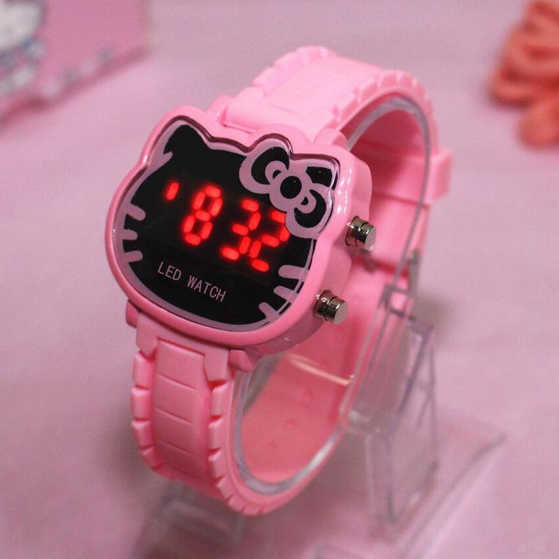 6d2b52a08 Factory Price Hello Kitty Cartoon Watches Kid Girls Relogios Sport  Wristwatch Children Led Digital Wrist Watch Nina Reloj Girl Clocks Stylish  Watches ...