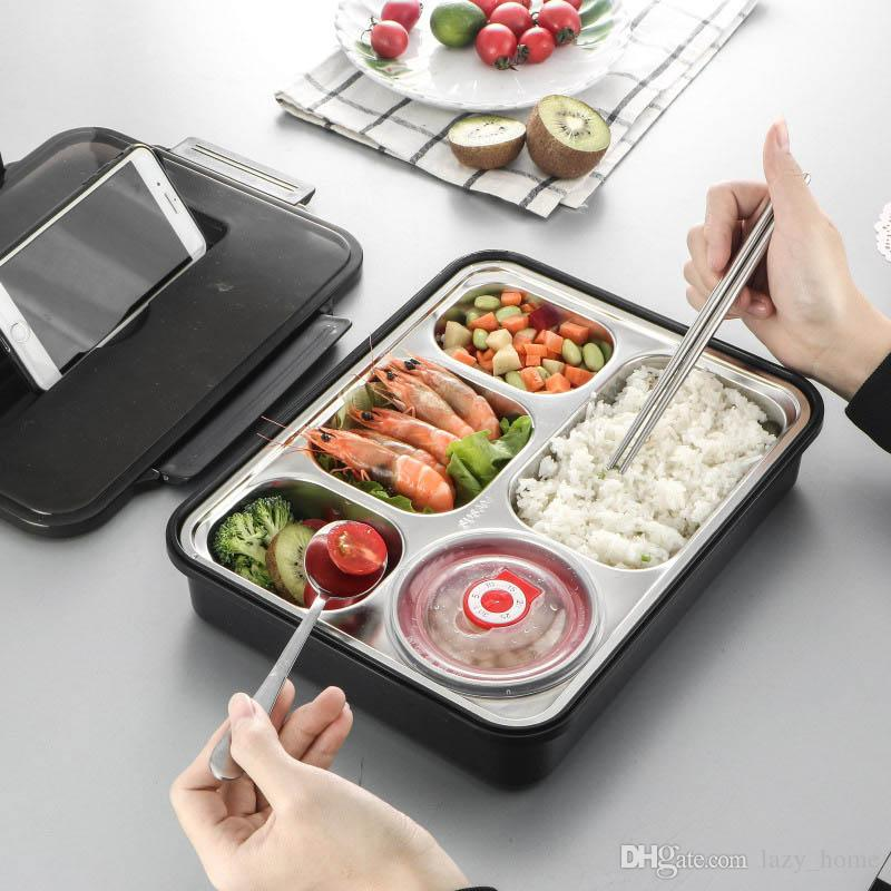 Lunch Box Stainless steel Portable Picnic Office School Food Containers  with Compartments Dinner Pail Keep Warm Airproof