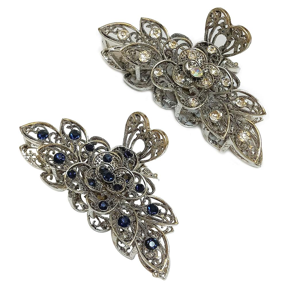 Fashion Hair Clips Women Hair Barrette Hairpin Crab Rhinestone Alloy Clamps Clips Barrettes Accessories