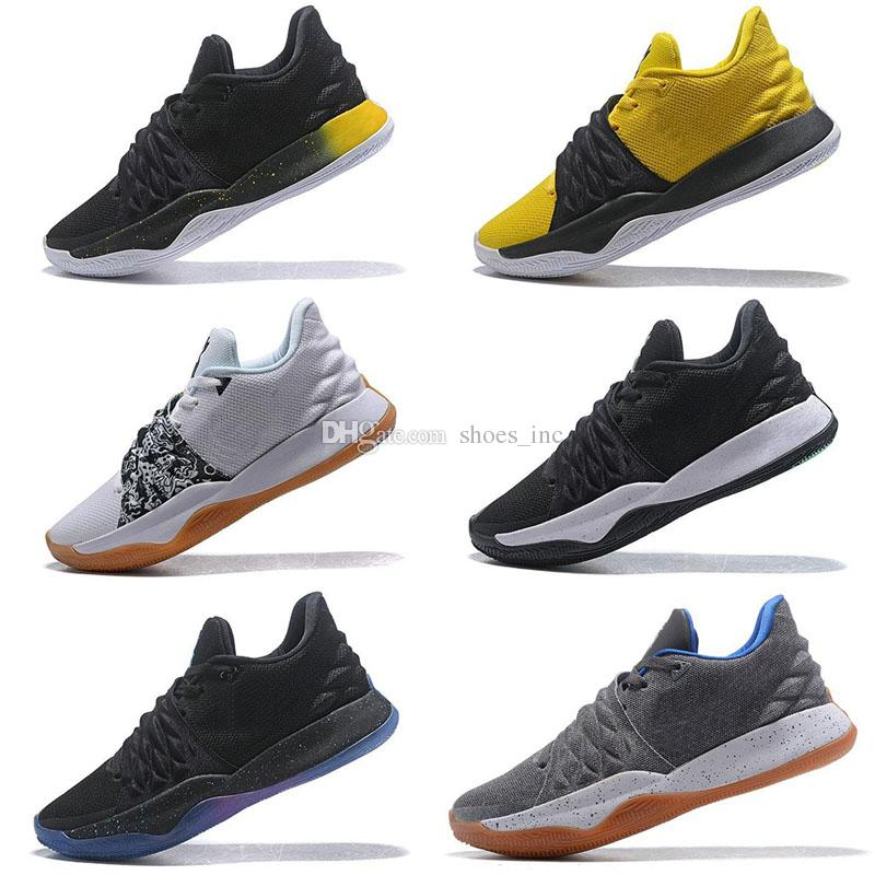 new styles e45f6 04a3c 2019 New Kyrie New Irving 4 Low Men Basketball Shoes White Black Grey  Yellow Green Red Multicolor Kyries Sports Sneaker Size 7-12