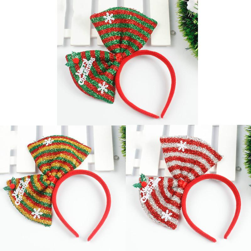 new colorful christams decorations xmas kids headbands bow knot head rh dhgate com