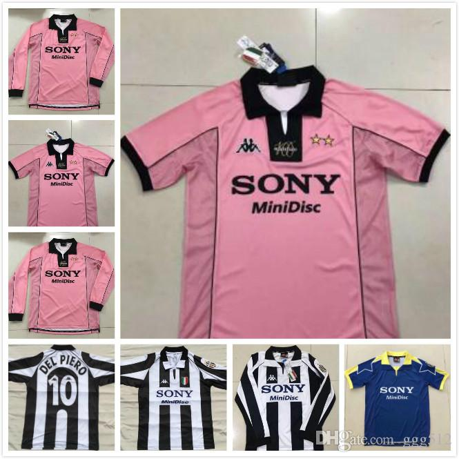 online store ab59f e4248 1997 1998 Juventus soccer jersey 97 90 Juventus retro shirt vintage Conte  Zidane Del Piero Davids INZAGHI Iuliano classic jersey