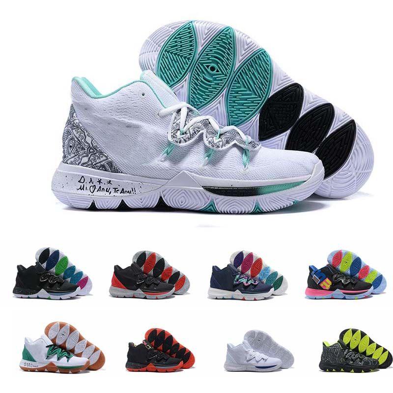 Compre Nike Kyrie Irving 5 Taco Scarpe Da Basket Chaussures Sneakers Wolf  Grigio Equipo Rojo Scarpe Da GINNASTICA Magia Negra Al Aire Libre Deportes  ... 7c92f411d7737