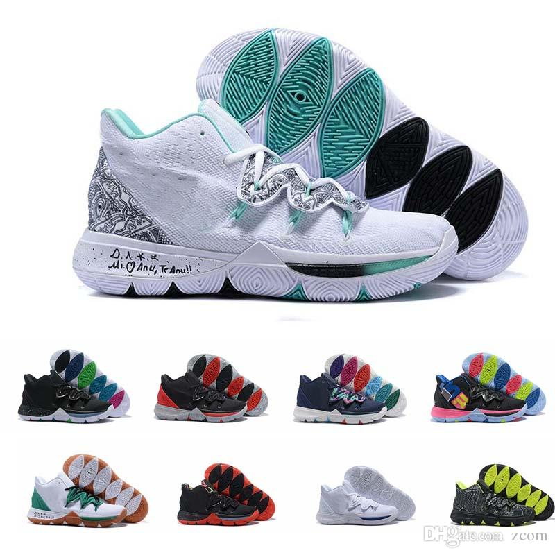save off a5274 2a6ff Acquista Nike Kyrie Irving 5 Taco Scarpe Da Cestino Ti Scarpe Lupo Grigio  Squadra Rossa Di Magia Nera Scarpe Da Ginnastica Designer Schuhe Sport  All aperto ...