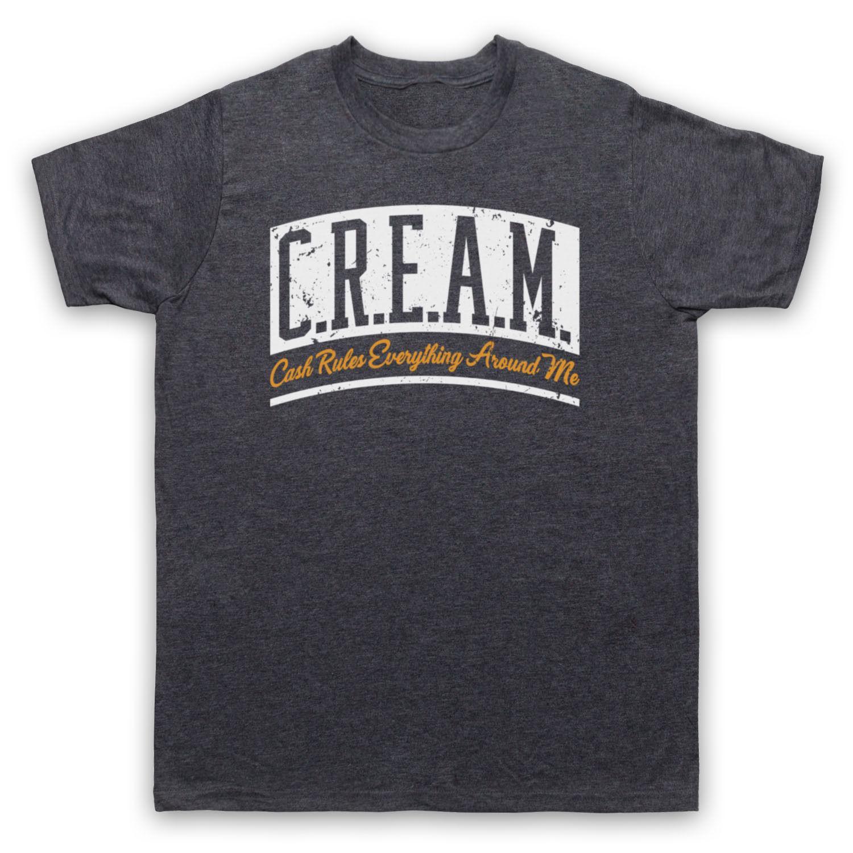 3c769bfbac8 WU TANG CLAN CREAM CASH RULES EVERYTHING AROUND ME ADULTS   KIDS T SHIRT  Men Women Top Tee Black Men Women Unisex Fashion Tshirt Free Print On T  Shirt Cheap ...
