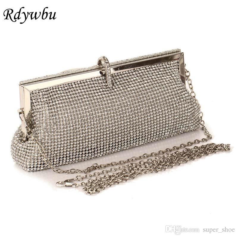 17ee0be9069da Rdywbu Diamond Studded Evening Bag Women'S Rhinestone Banquet Shoulder  Handbag Female Crystal Wedding Party Clutches Purse SJ184 #222473 Handbags  Purses ...
