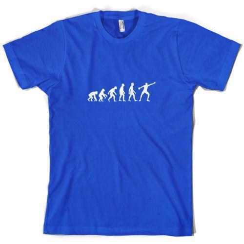 buscar auténtico colores delicados calidad perfecta Camiseta para hombre Evolution Of Man Discus Atleta de atletismo 10 colores