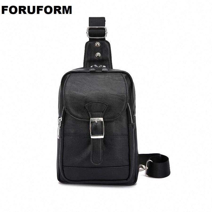 60769aa42470 2019 Men S Chest Bag Retro PU Leather Single Shoulder Bag Leisure Travel  Messenger Chest Pocket Cross Body LI 2383 Cute Fanny Pack Belt Bags From  Paradise12 ...