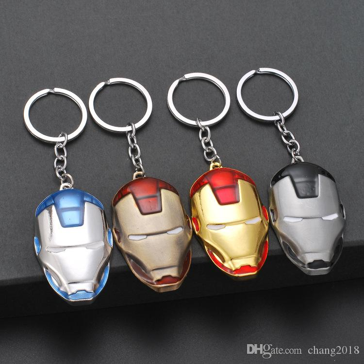 19 styles New Captain America Thor Batman Iron Man Superman Spider Man The Avengers Keychain Keyring Movie Super Hero Key Ring jssl