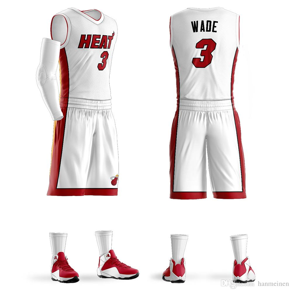 the best attitude d560f 02b49 2018 Men s Youth Custom Basketball Jerseys Sets Dwyane Wade Jersey Purple  Basketball Shirt Customized Design Wholesale