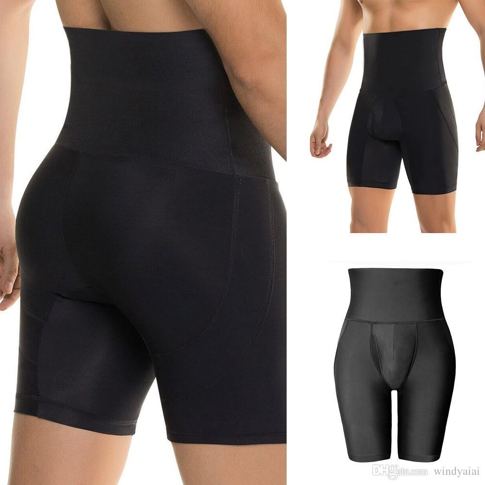 2d33942bb4d Stretch Body Shaper High Waist Boxer Briefs Tummy Control Shapewear ...