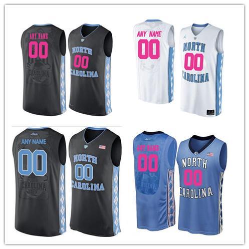 ef300b883 2019 Custom North Carolina Tar Heels Any Name Any Number NCAA College  Basketball Blue Black White Stitched Jersey From Hellomicki