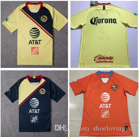 726d100d3cc7d 2019 Club De Fútbol América Casa Fútbol Jersey 18 19 Club De Fútbol América  Tercera Camiseta De Fútbol México Uniforme De Fútbol Del Club Ventas Por ...