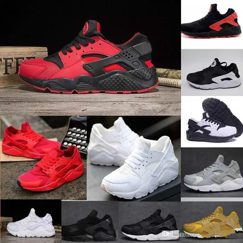 official photos d36dc 1f2a0 2018 Huarache I Running Shoes For Men Women,Green White Black Rose Gold Sneakers  Triple Huaraches 1 Trainers Huraches Sports Shoes Dress Shoes For Men Suede  ...