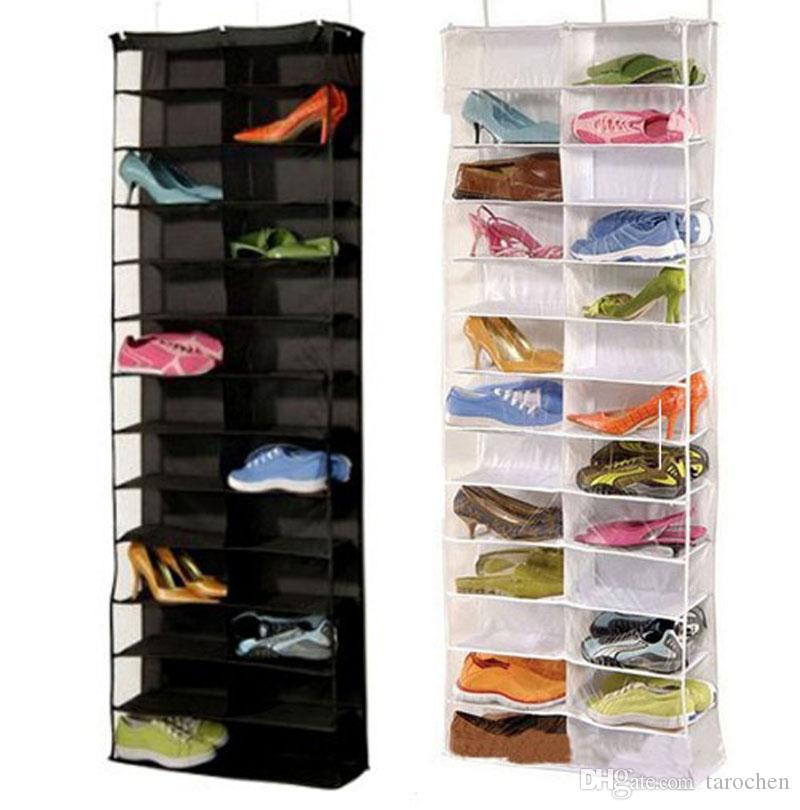 2019 shoes hanger storage bags over the door hanging organizer rh dhgate com