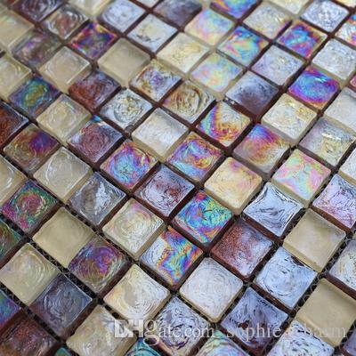 2019 sugar white purple rainbow glass mosaic tile backsplash rh dhgate com