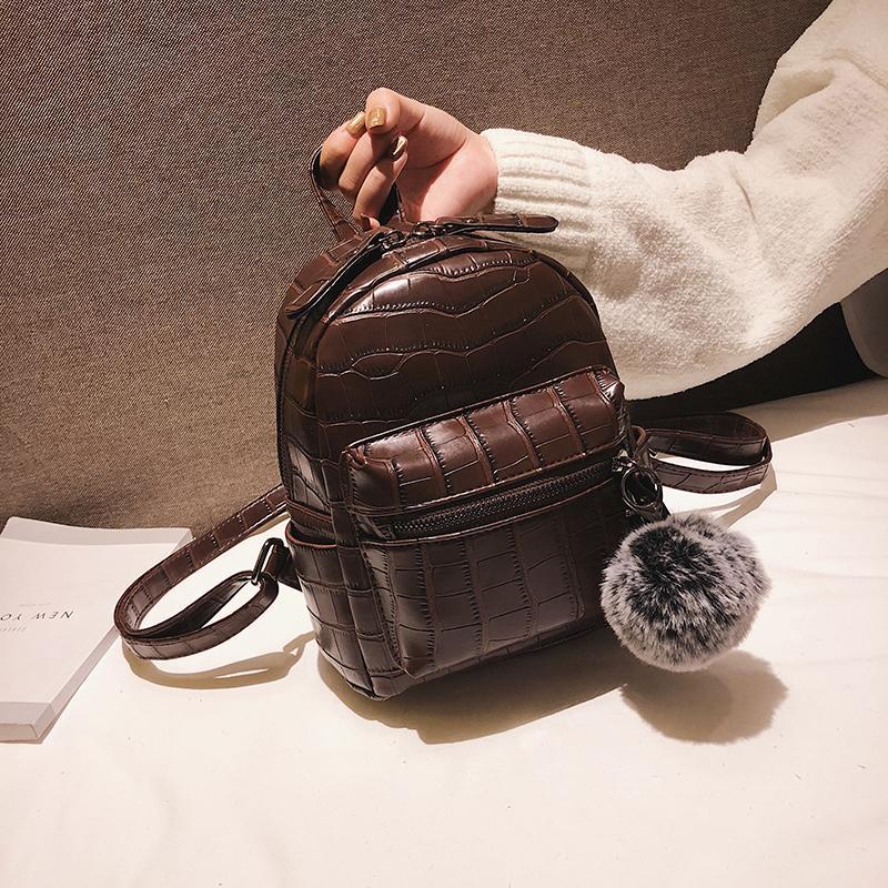37e8c5f9414 Compre patrón de piedra pu cuero mochila mini suave toque jpg 800x800  Backpack morral mujer mochilas