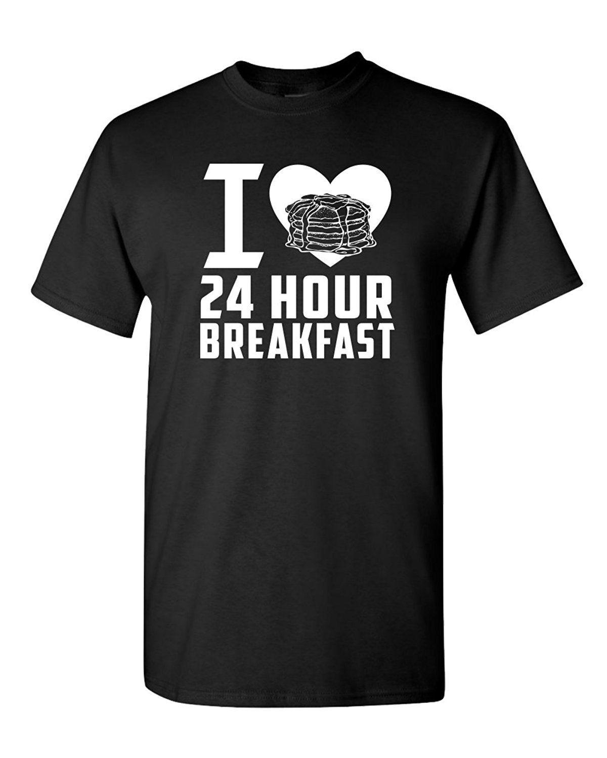 c231a6de 24 Hour Breakfast Food Pancakes Bacon Funny Humor Pun Men Adult Graphic T  Shirt Funny Gift Short ,Short Sleeve T Shirt ,Tops Round Neck Tees Best  Tshirts ...