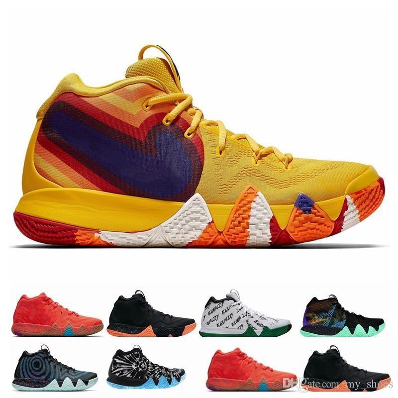 c30e48d7325 2019 Otoño Irving 4 Zapatos De Baloncesto Para La Venta Barata Zapatillas  De Deporte Kyrie Deportes Para Hombre Lobo Gris Equipo Rojo Zapatillas De  Deporte ...