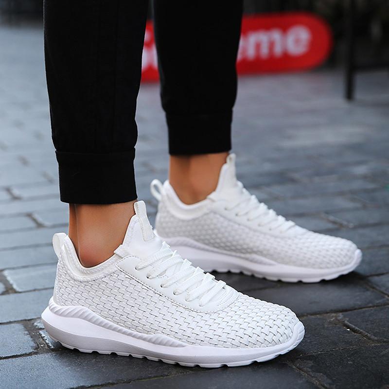 de572a0f93c3c Mesh Breathable Casual Shoes Men Sneakers Lace-Up Comfortable Light Shoes  Man Adult Unisex Travel