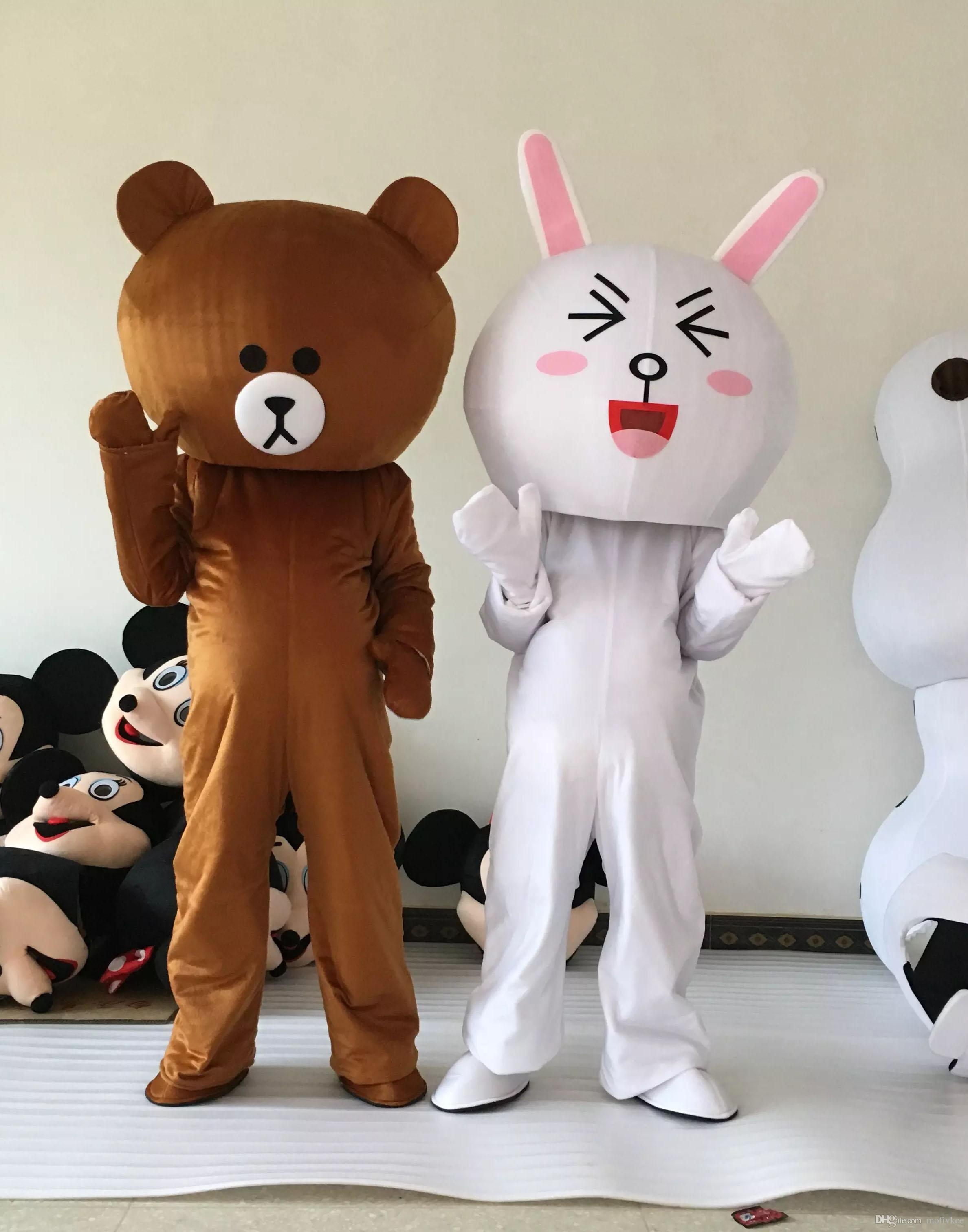 cda65dea2d0 Professional Brown Bear School Mascot Costume Halloween Costumes ...