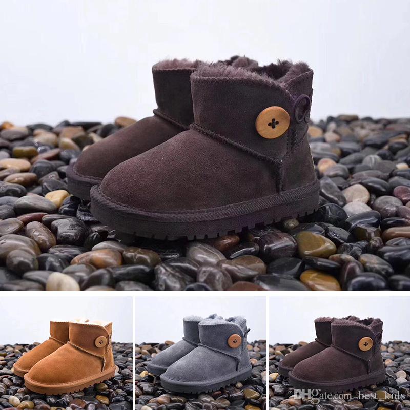 5243e8b46 Compre UGG Boots Niños Otoño Bebé Niños Oxford Zapatos Para Niños Botas De  Vestir Niñas Moda Martin Botas Toddler PU Botas Ieather Negro Marrón Gris  EU21 30 ...