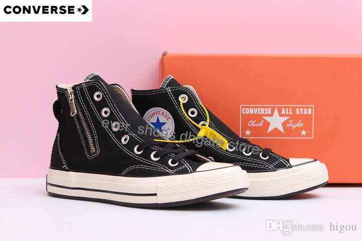 865f43022a72fd New Converse X Riri Zip Black Hiker Zipper Chuck 70 High TayLor Casual All  Star 163087C Fashion Canvas Designer Brand Shoes Sneakers 36 45 Shoe Boots  ...