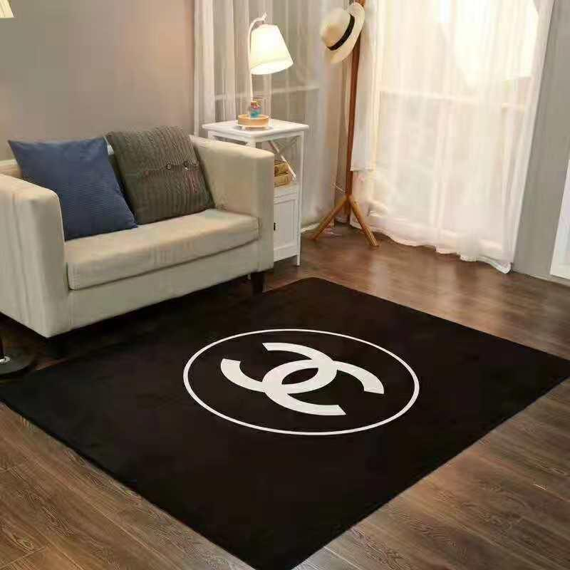 Hot Sale Brand C White Black Carpet Rectangle Brand Design Bedroom Rug  Living Room Coffee Table Carpets Hot Mats Carpet Floor Home Bath Mat