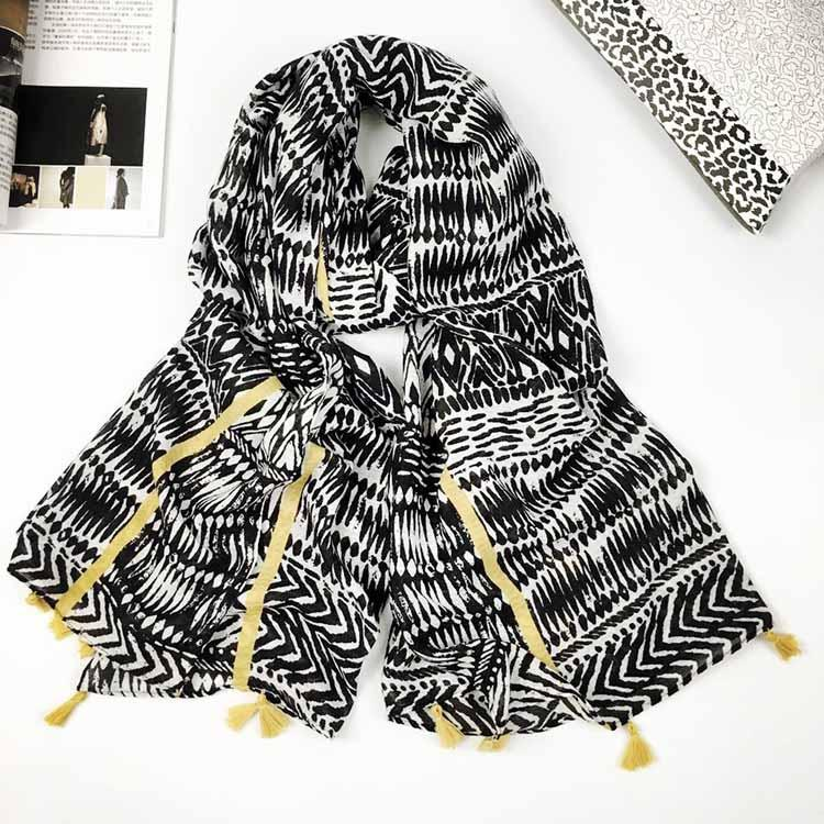 Za Winter Fashion Scarf Women Tartan Plaid Cashmere Scarves Wraps Wram Striped Shawls Female Pashmina Lady Blanket Stoles