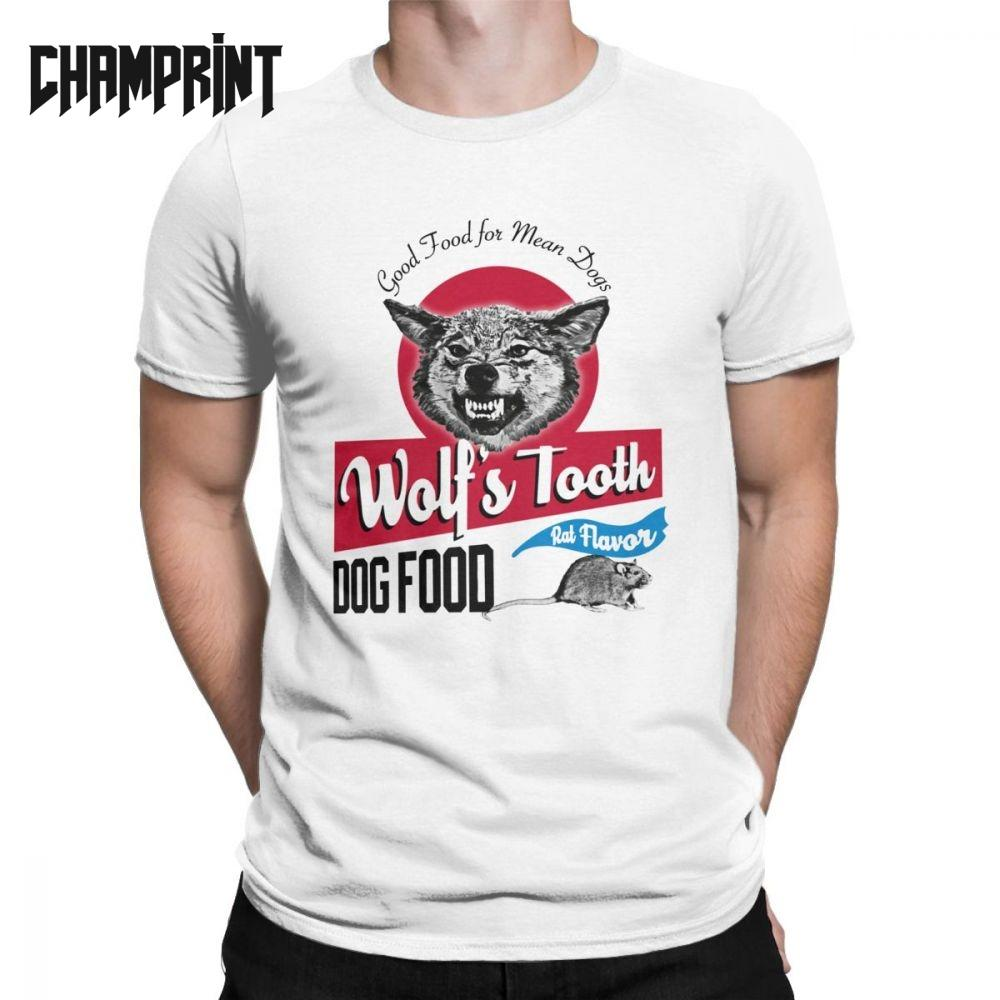 Men T-Shirts Wolf's Tooth Dog Food Once Upon A Time In Hollywood Cotton Tee Shirt Short Sleeve Criminal Cliff T Shirts 6XL