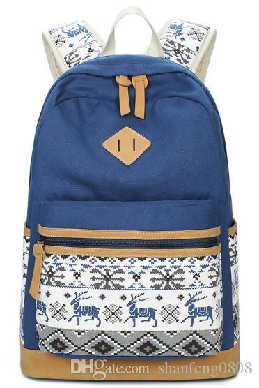 1e3fbf5aed75 Canvas Backpack Animal Prints Women Bagpack Teenagers Backpacks For Teenage  Teen Girls Youth Feminine Backpack Mochila Feminina Travel Backpack Cute ...