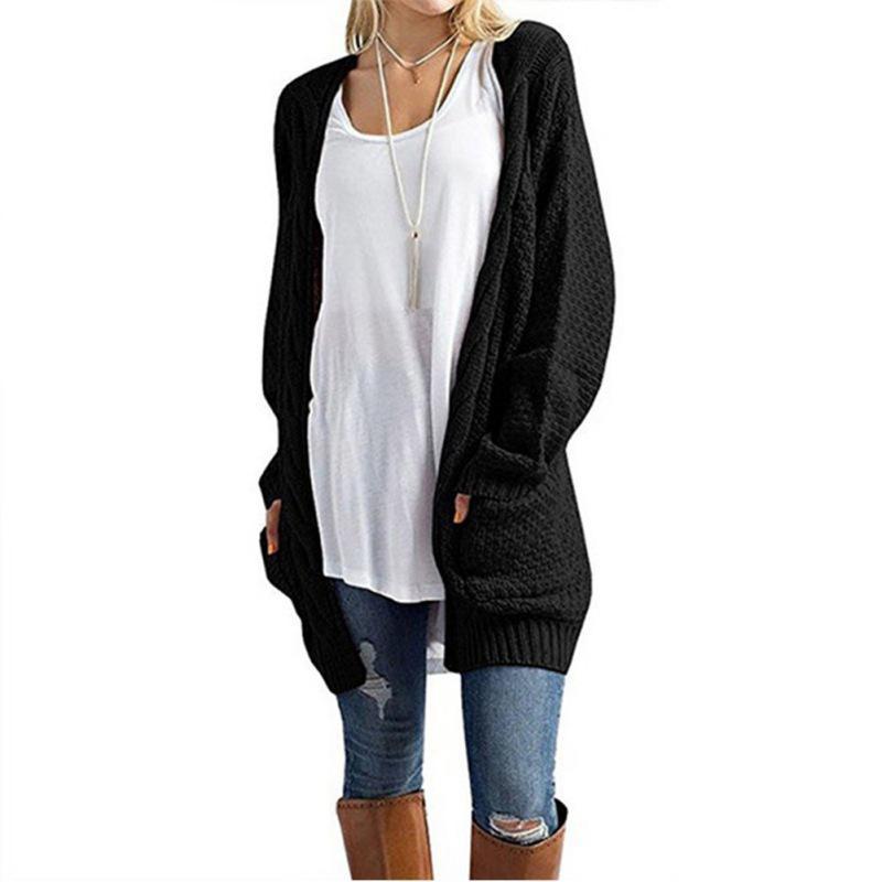2019 Womens Sweaters Women Sweater Cardigans Long Sleeve Pockets
