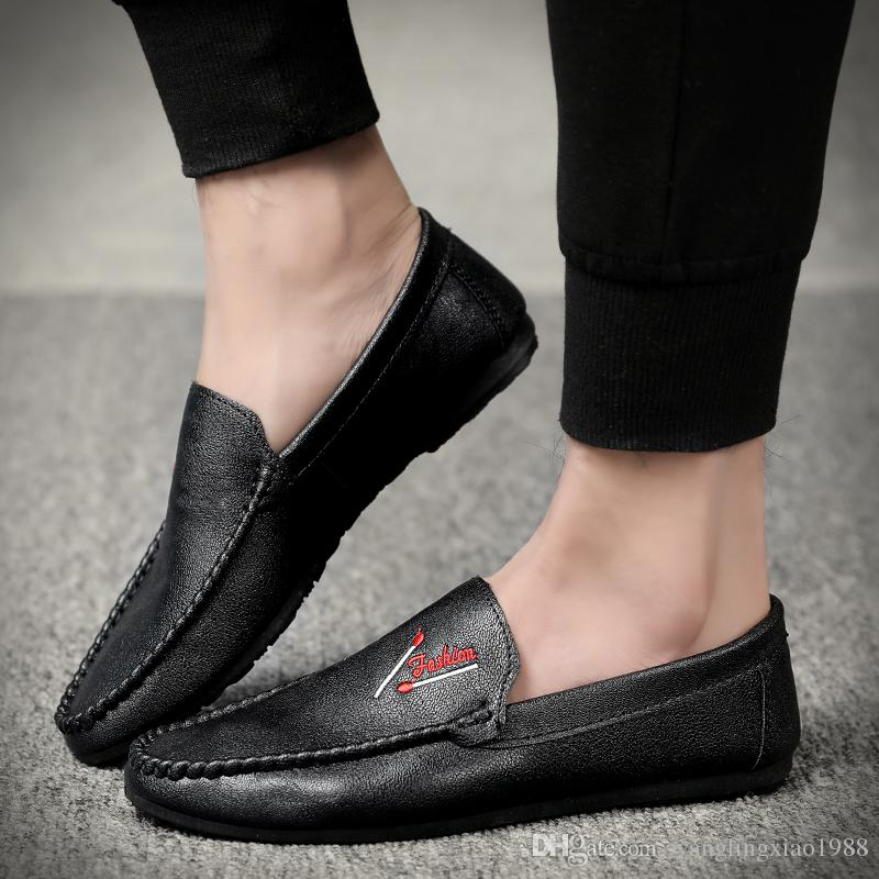 515ac3fab0 2019 New Fashion Spring Mens Loafers Black Shoes Luxury Print Male Footwear  Italian Dress Casual Flats Shoes Man Loafers Party Driving