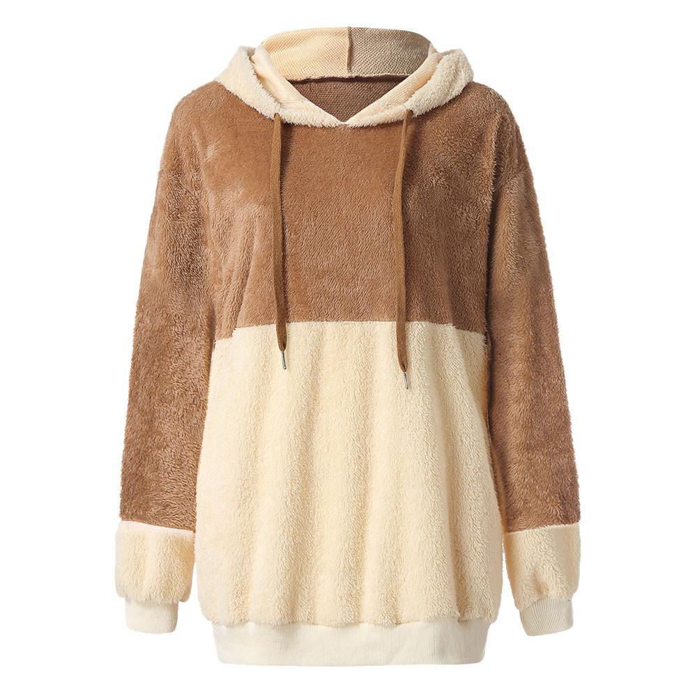 2019 Fashion Autumn Hoodies Sweatshirts Womens Ladies Artificial Wool Sweatshirt  Warm Hooded Pullover Tops Sweatshirt Female Clothes From Braces 67b2696d7