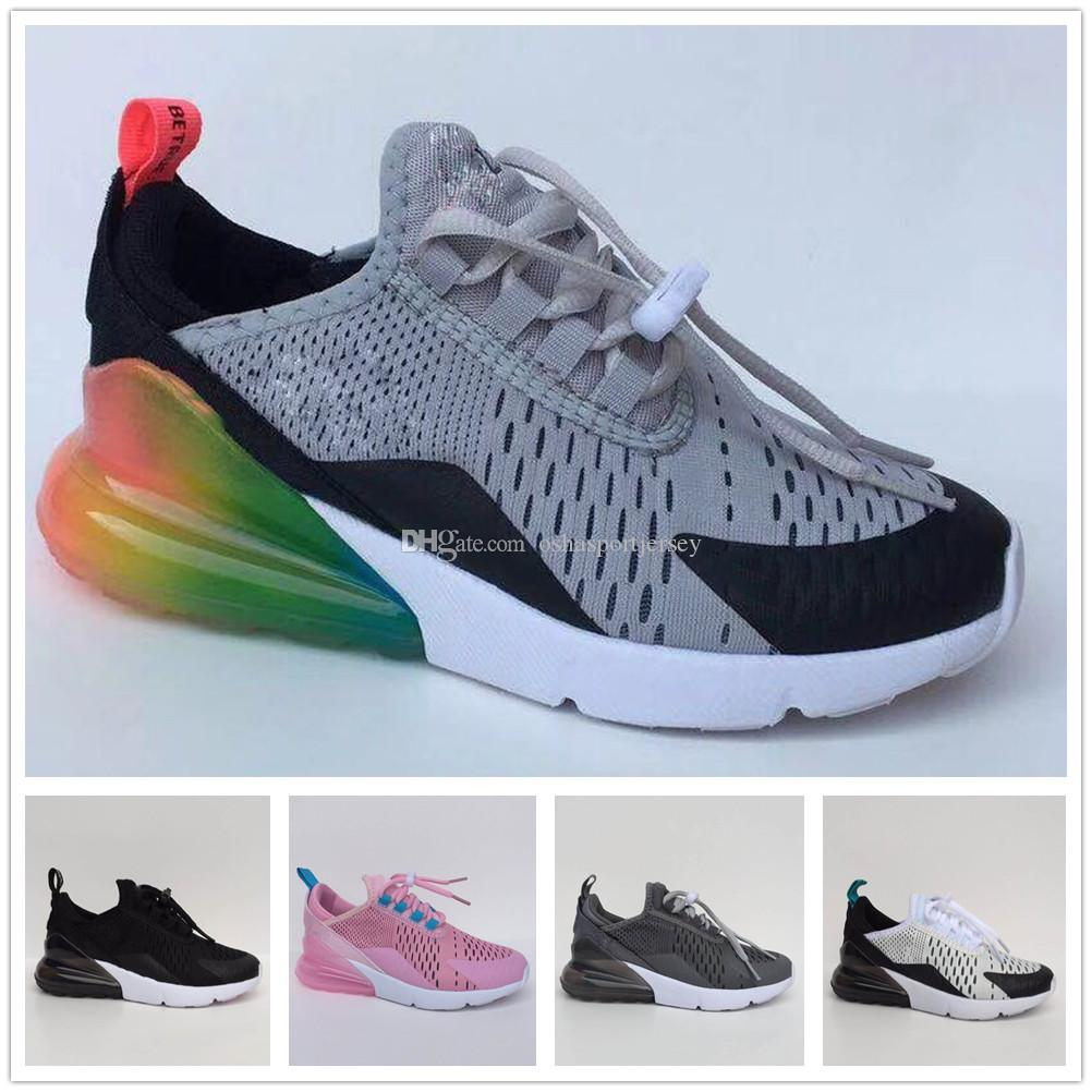 differently c9512 8d511 Compre Nike Air Max Airmax 270 2018 New Infant 270 Kids Zapatos Deportivos  Para Correr Al Aire Libre Blanco Negro Rosado Marca Air Cushion Boys Girls  27c ...